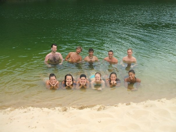 Hanging out with friends on Fraser Island for my birthday circa 2007