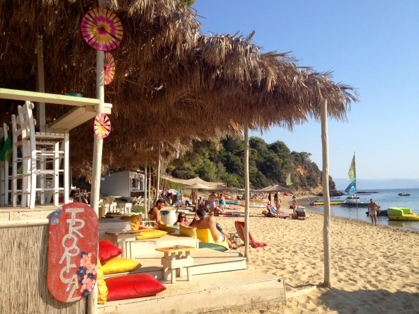 Beach bar at Agia Eleni