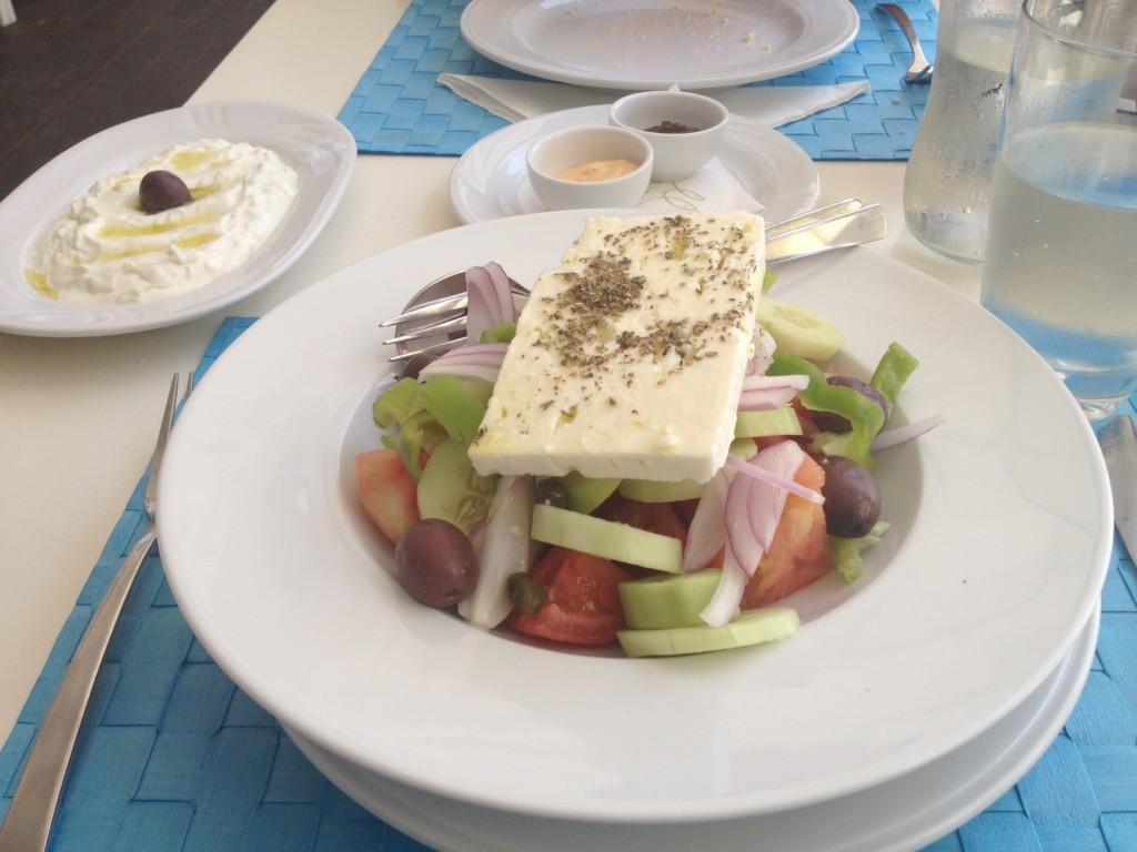Greek Salad at PR Ammos Restaurant - one of the best restaurants in Skiathos