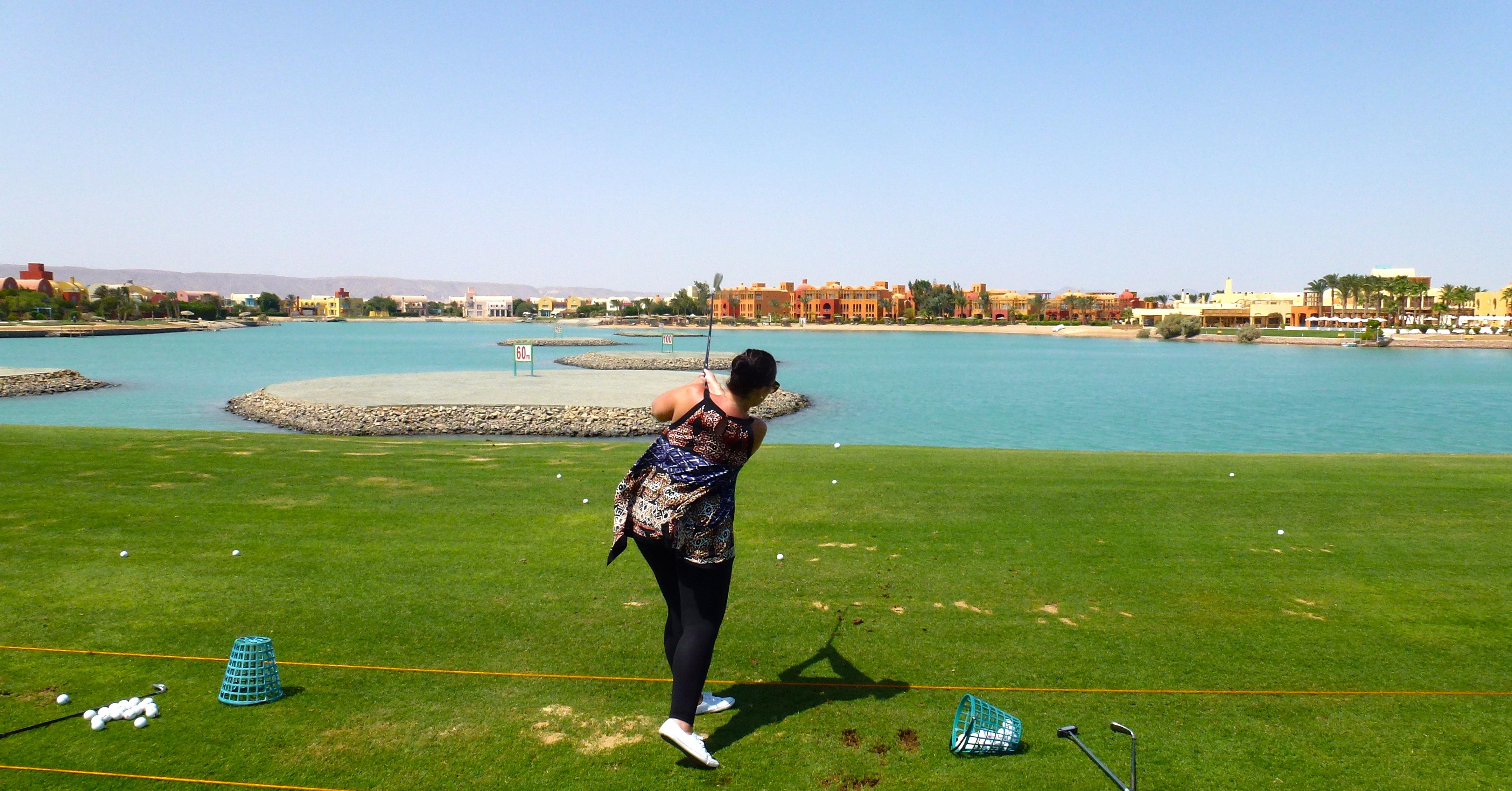 Golfing in El Gouna