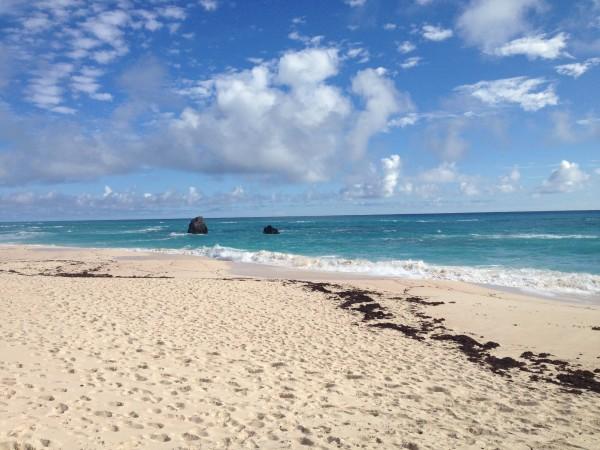 Empty Bermuda beach