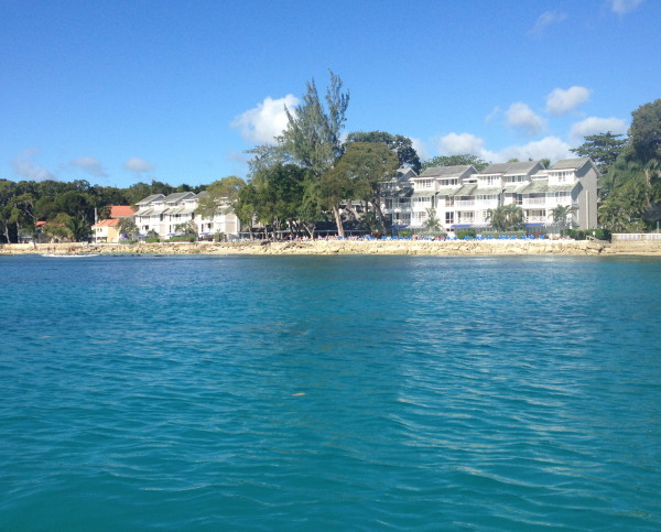 The Club Barbados as seen from the sea