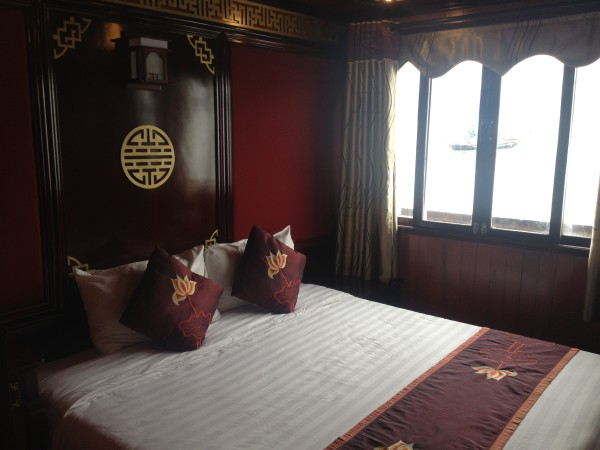 Bedroom on Junk Ship Cruise