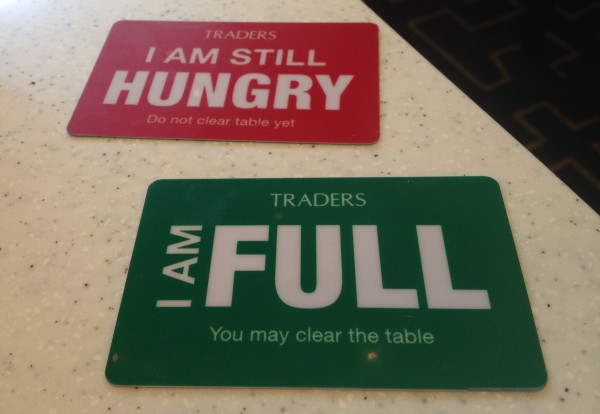 Hungry/Full at Traders Hotel