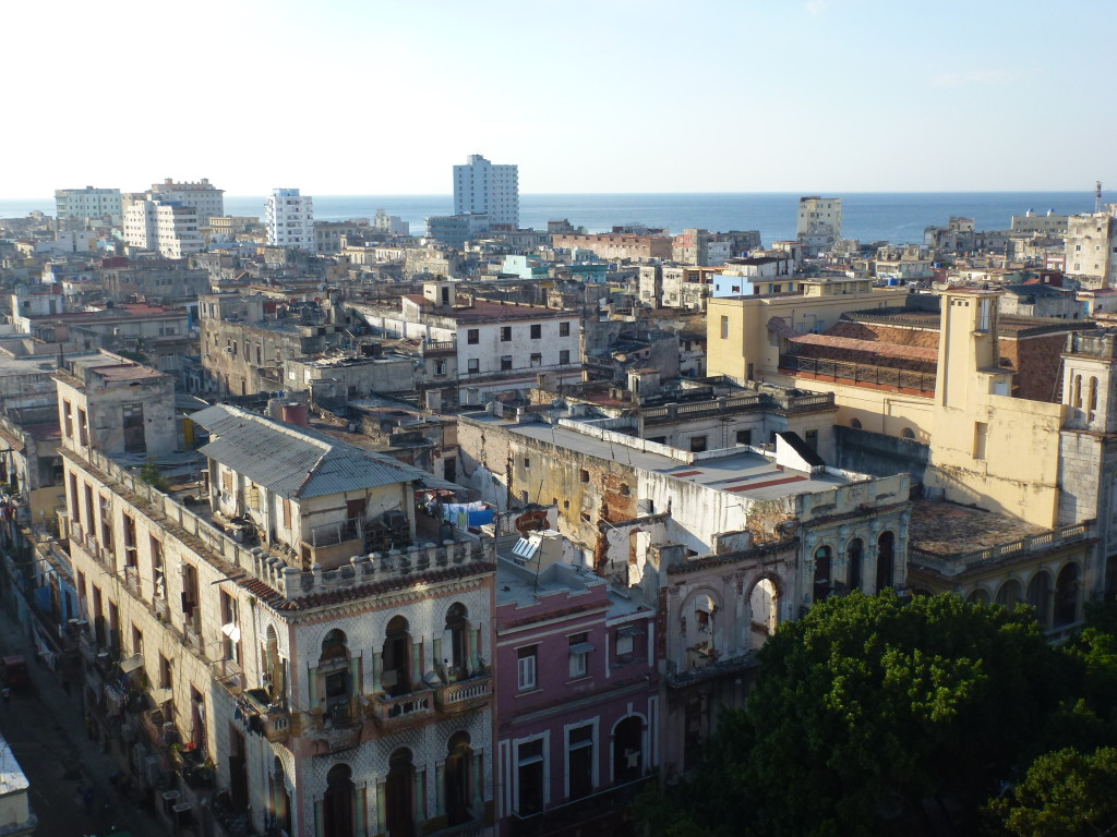 View from rooftop pool and bar of NH Parque Central Hotel, Havana
