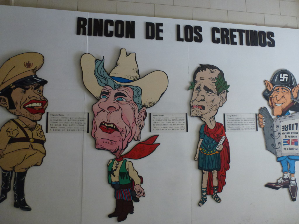 The corner of the the cretins in the Revolution Museum, Havana