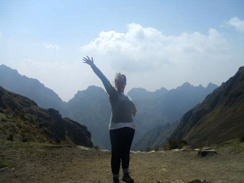 Excited to reach the highest point of the trek - Dead Woman's Pass