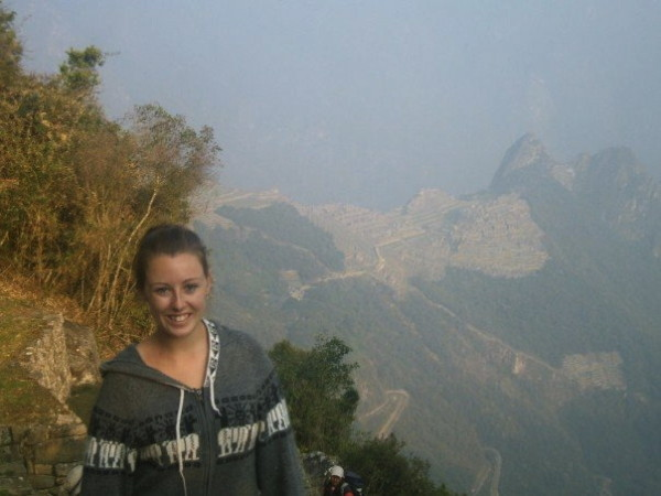 First glimpse of Machu Picchu from the Sun Gate