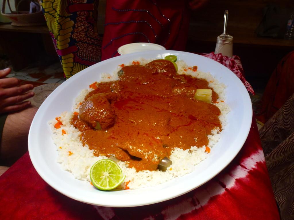 Gambian dish domoda - Cooking With Ida In The Gambia