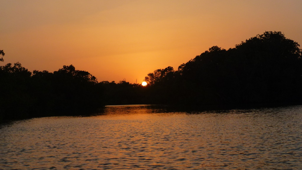 Sunset on River Gambia
