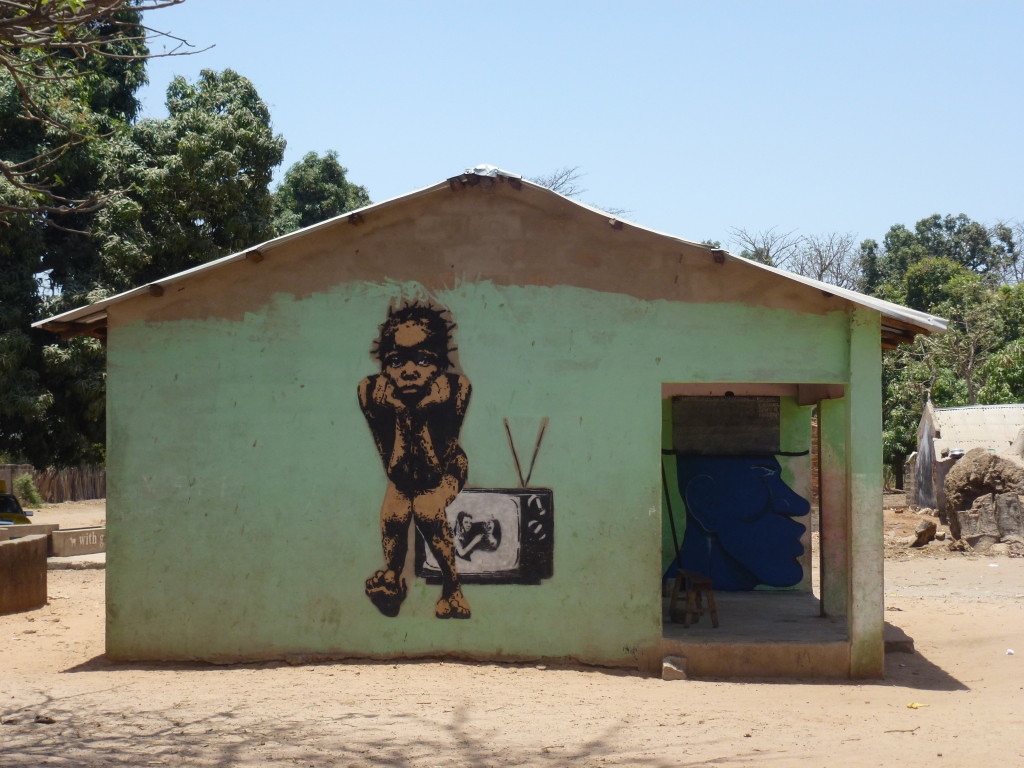 Wide Open Walls street art project in the Gambia