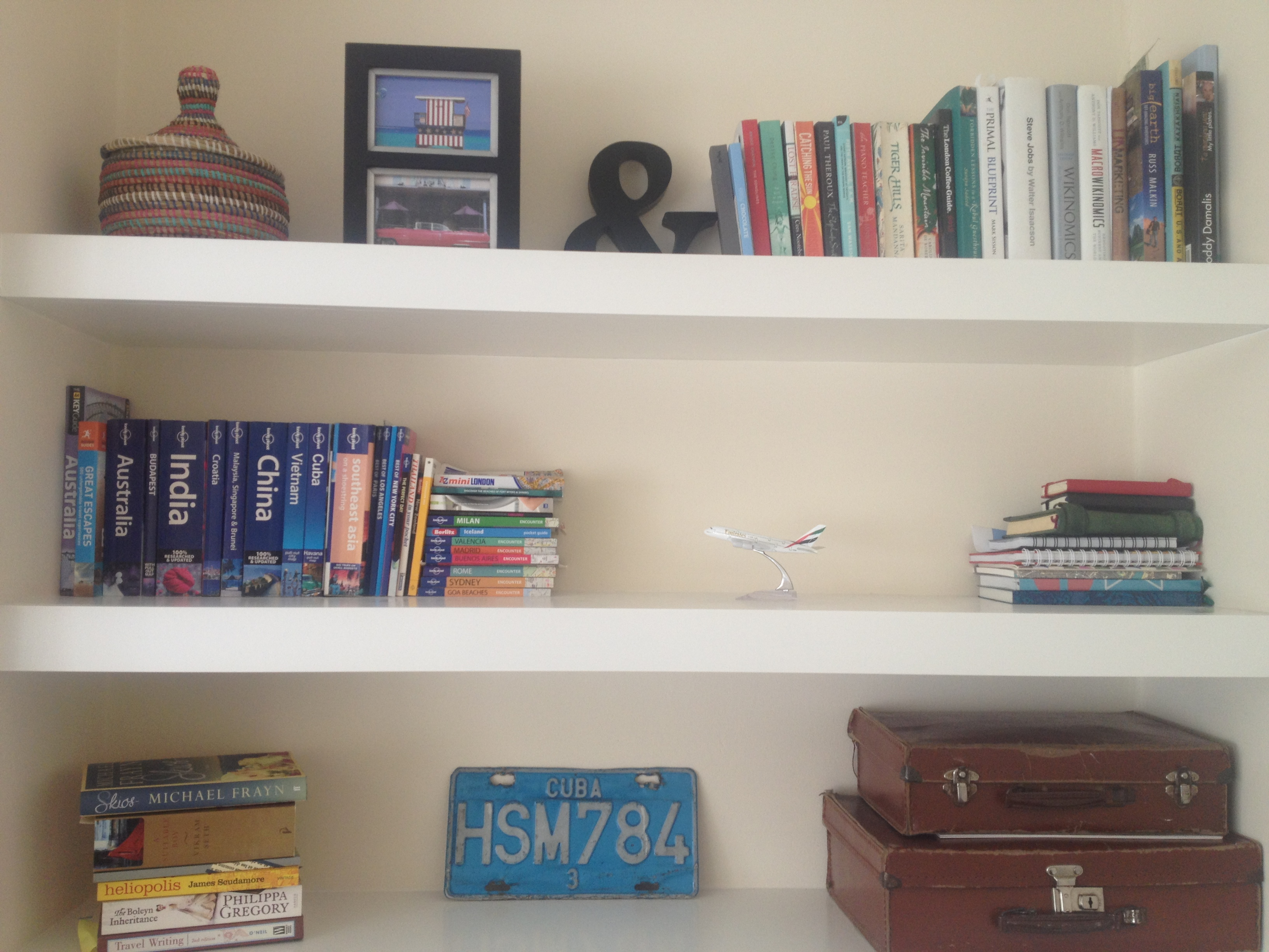 travel reads bookshelf