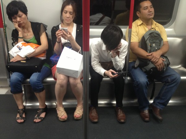 Tweeting on the MTR