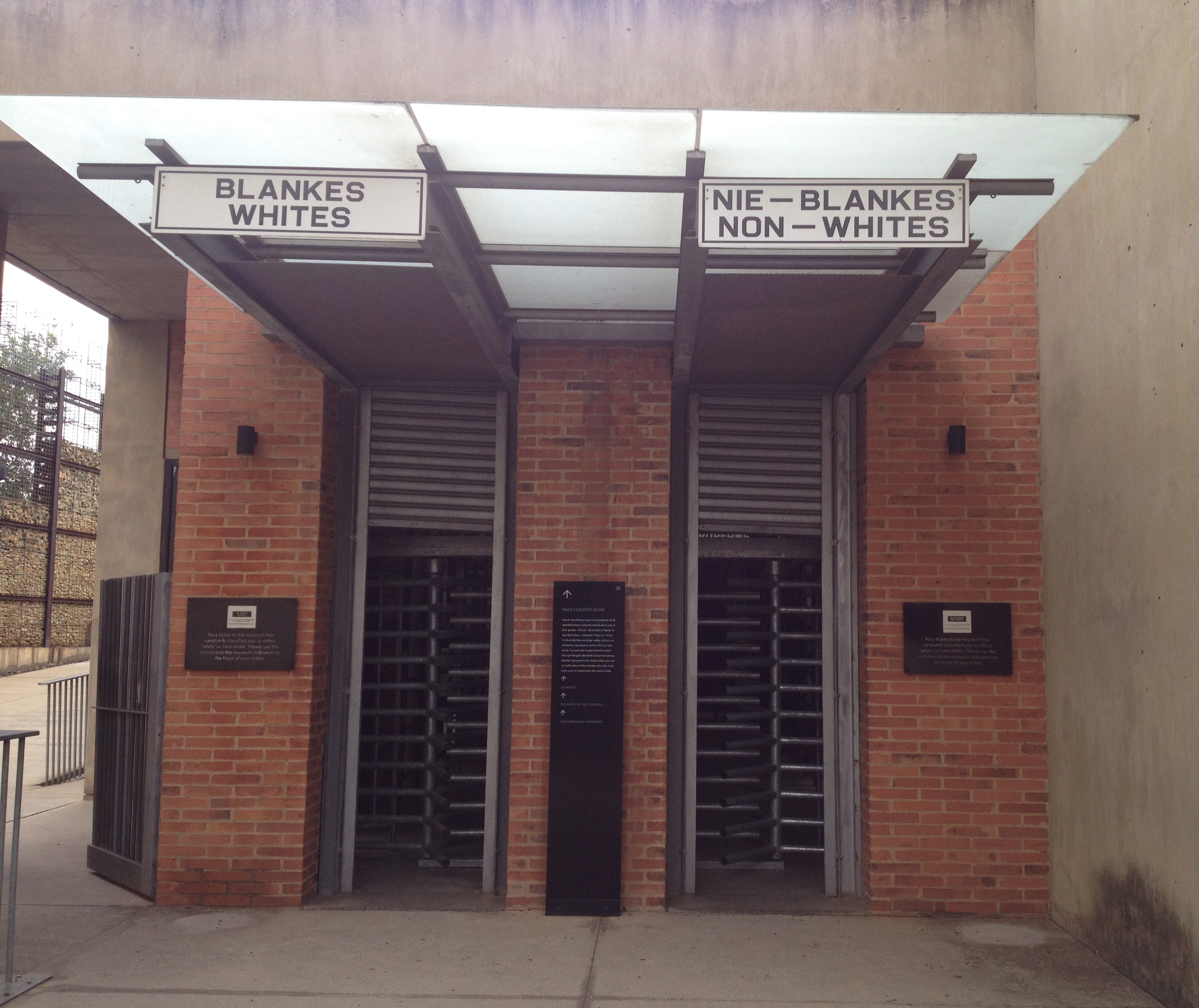 Apartheid Museum Entrance