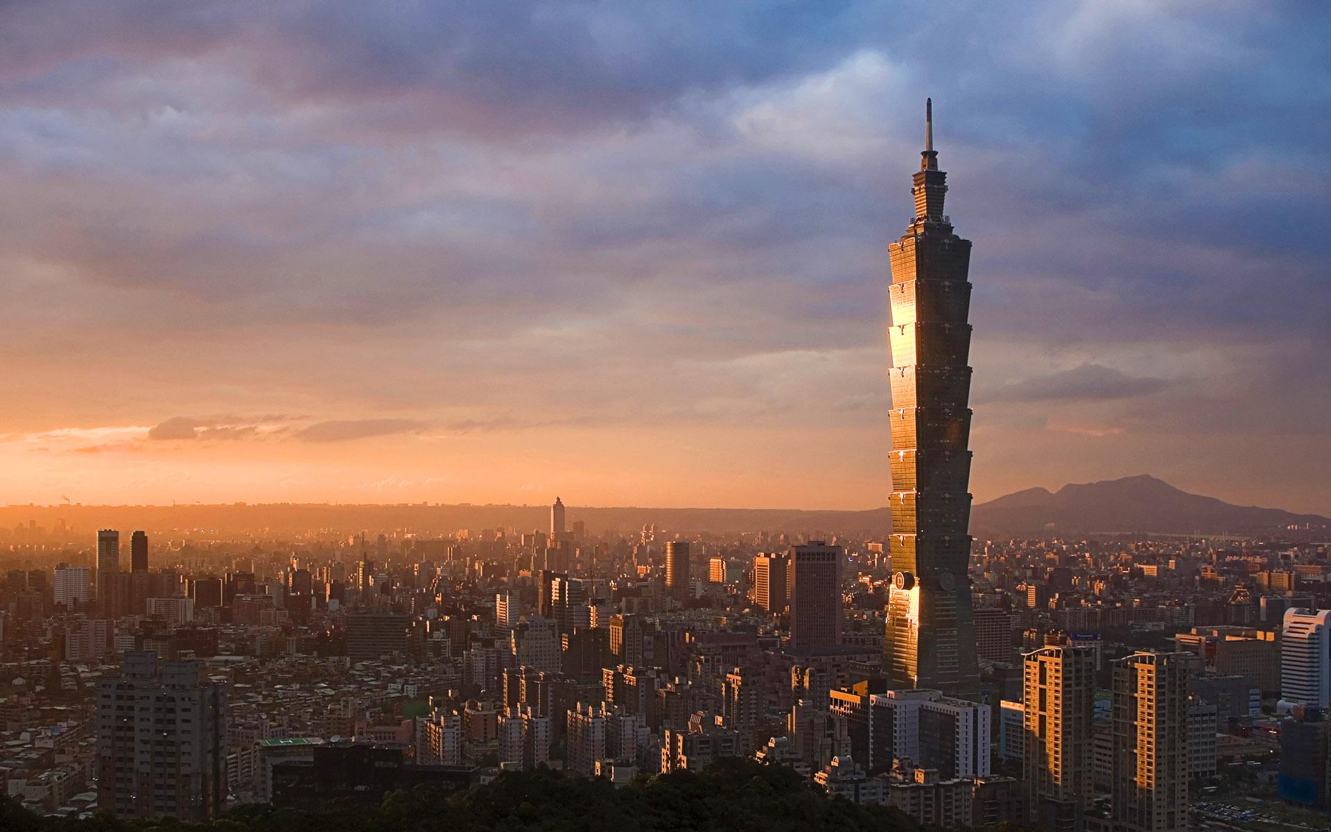 Taipei 101 And Skyline Taipei Taiwan Girl Tweets World