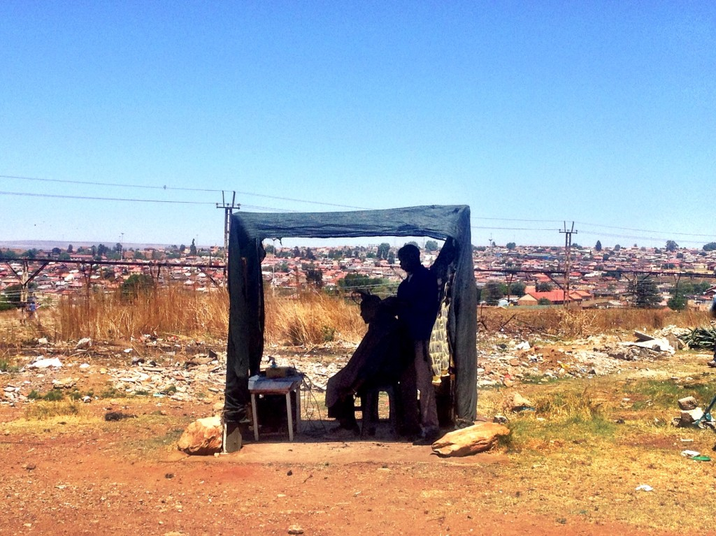 Barber in Soweto