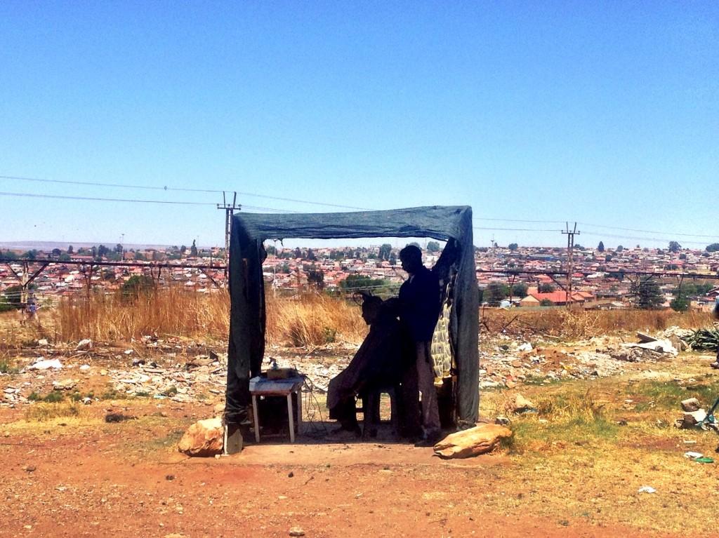 Barber in Soweto