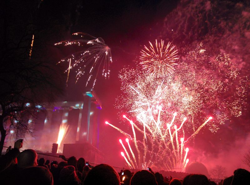 Edinburgh's Hogmanay is Underway