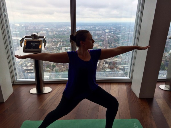 yoga at view from the shard