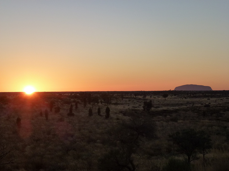 Sunrise at Uluru, Australia's Northern Territory