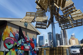 Street art and interesting installations at Queen Victoria Market.