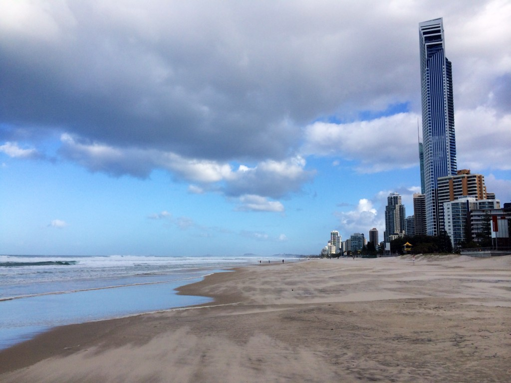 Dramatic sky at Surfers Paradise