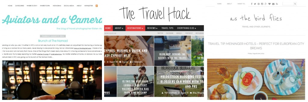 Some of my favourite travel blogs
