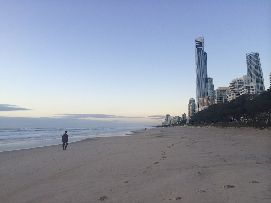 First light on Surfer's Paradise