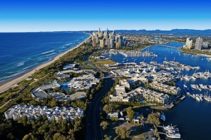 Picture yourself here. Aerial view of Broadwater, Gold Coast.