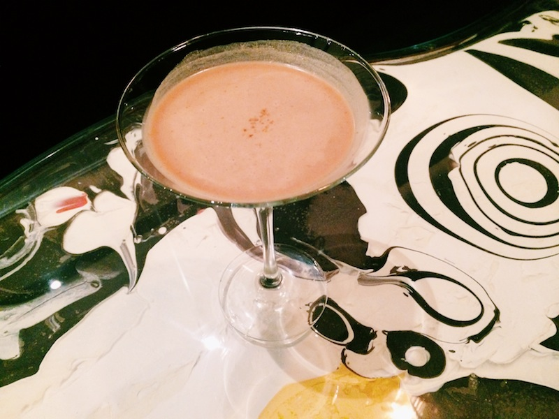 Chocoholics heaven - a chocolate martini on a chocolate painted table