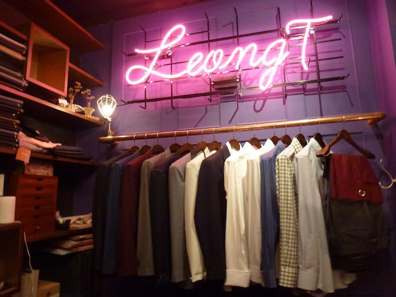 Say the magic word and staff at this pop up shop will show you what hides behind the garments