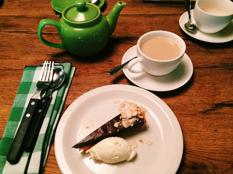 Tea and heavenly cake at Pizza East