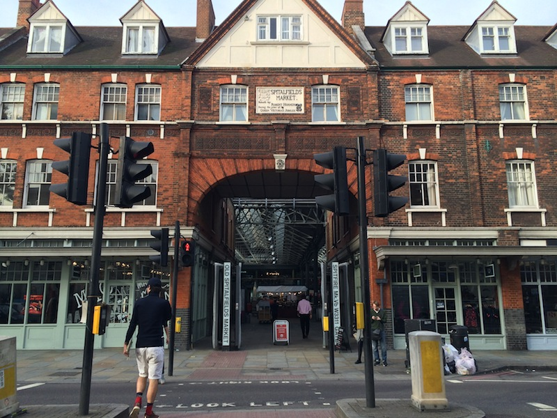 The Eating London Food Tour begins at Old Spitalfields Market