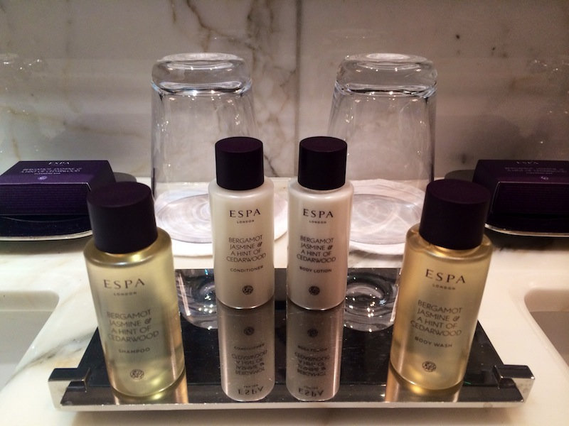 Beautifully scented ESPA products in the bathroom