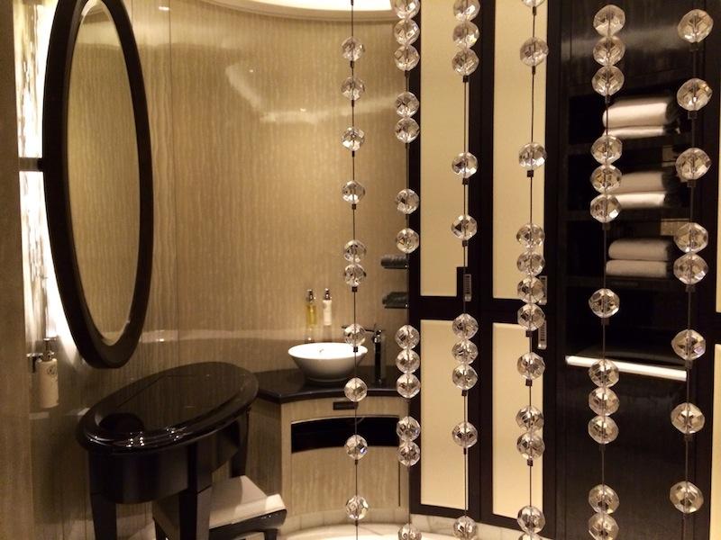 Elegant changing rooms at ESPA Life Spa