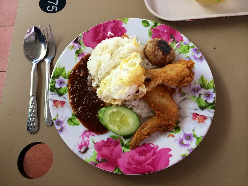 Mizzy's famous Nasi Lemak from Changi Hawker Centre