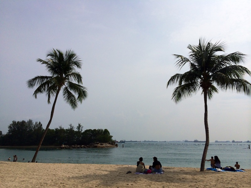 Public beach at Sentosa Island