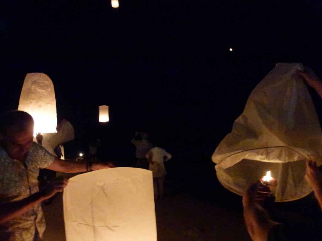 Lanterns to celebrate the King of Thailand's 87th Birthday