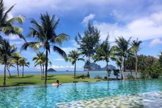 Enjoying a moment (and pool!) to myself at Anantara Si Kao