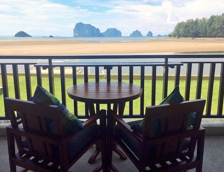 Sea View room balcony (with handy fan) at Anantara Si Kao