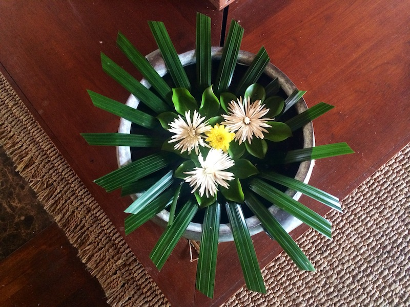 Floral arrangement in the lobby