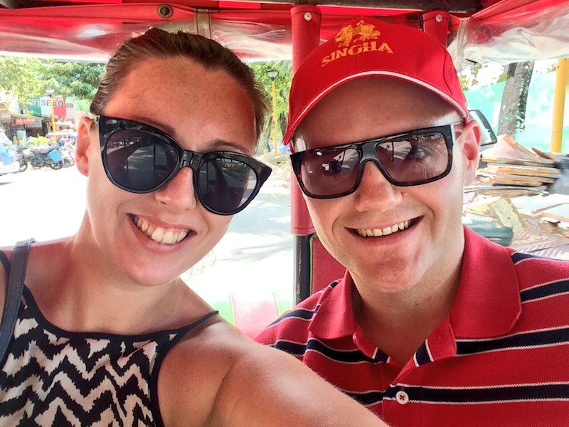 Justin and I taking a token Tuk Tuk selfie