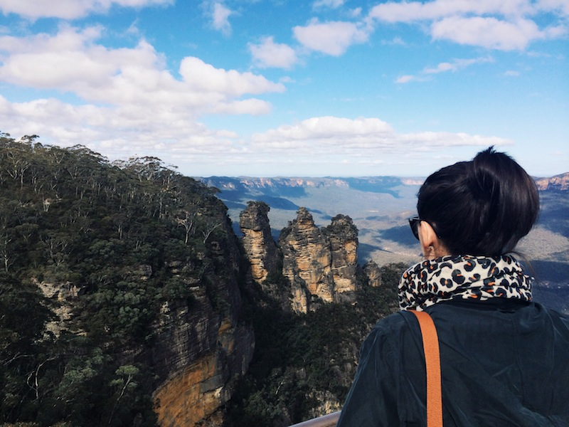Exploring in and around Sydney - at the Three Sisters in the Blue Mountains
