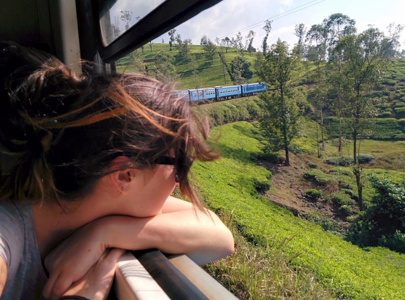 Nic takes in the scenery on the train ride to Ella