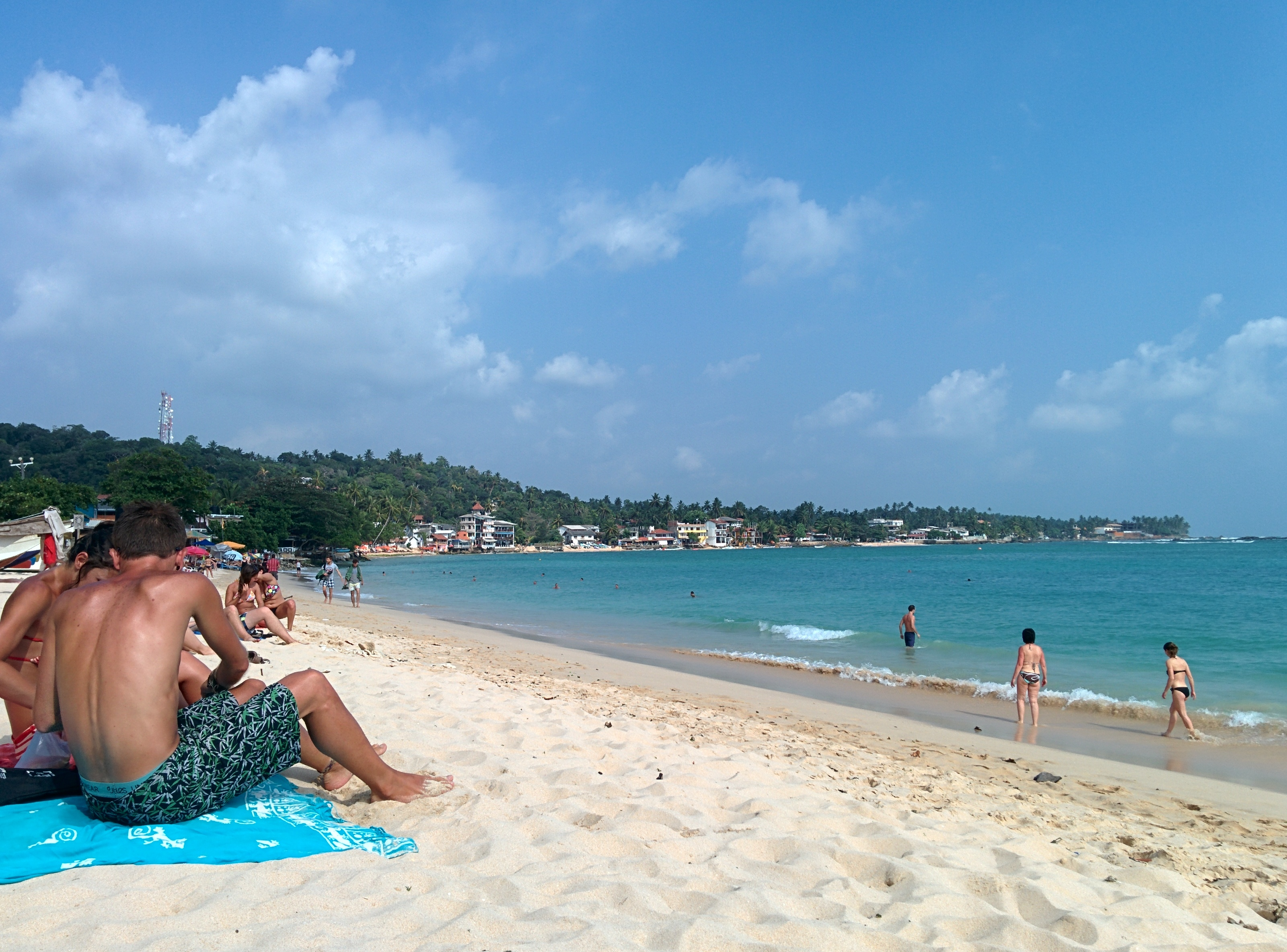 The waters are better for bathing at Unawatuna than Tangalla