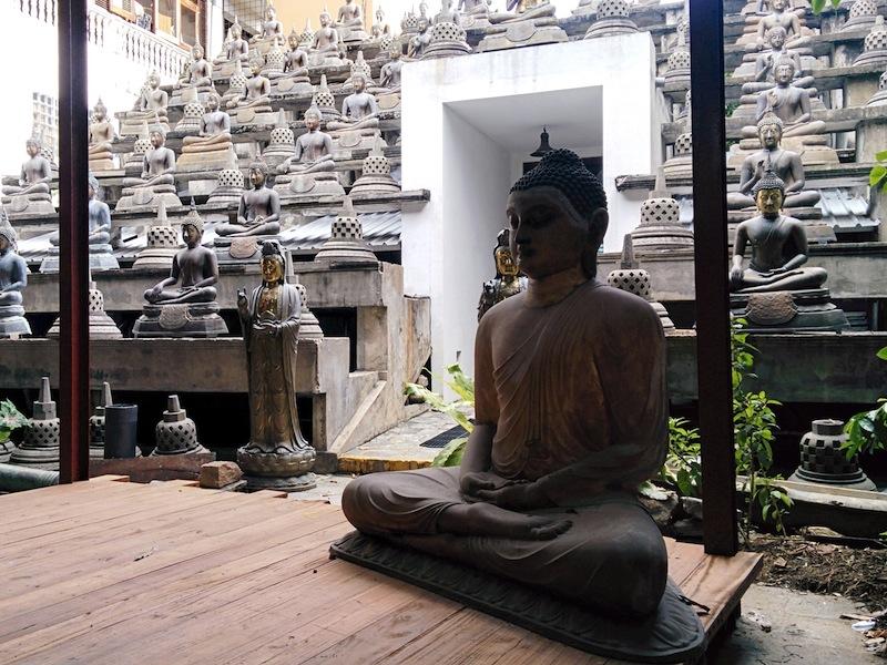 Gangaramaya Buddhist Temple built in the 1800's