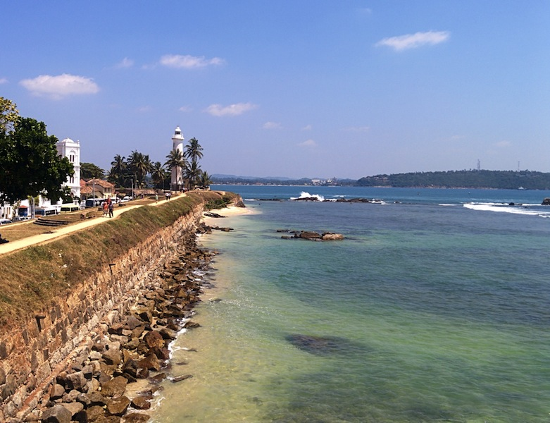 View from one of the Bastians at Galle Fort