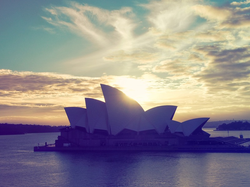 Sydney sunrise gets the vintage treatment
