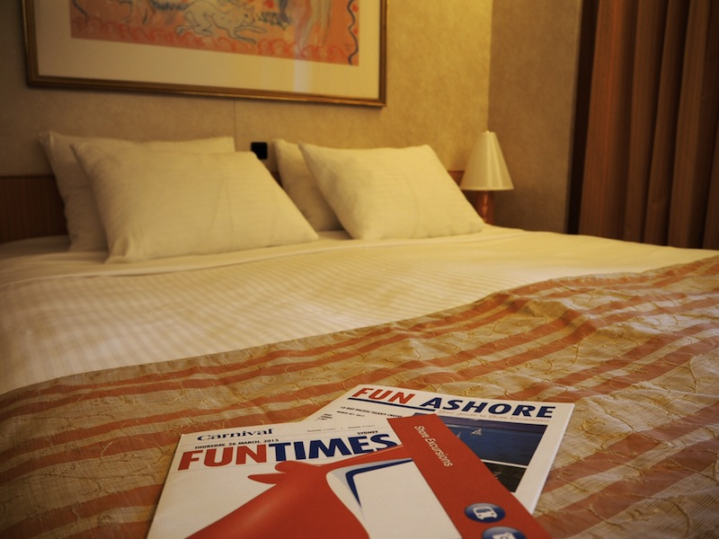 The Fun Times and Fun Ashore brochures spell out all the activities you can enjoy on and off shore