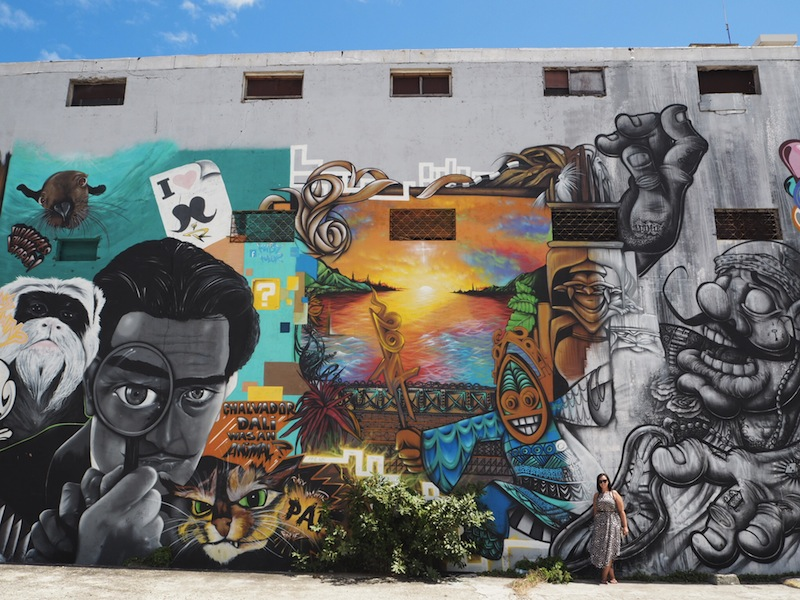 Unexpectedly discovering street art in Noumea